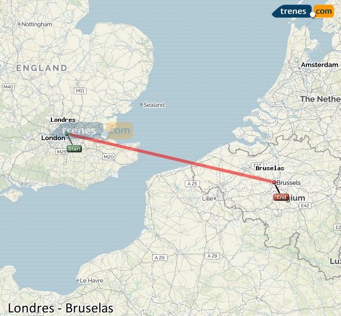 Karte vergrößern Züge London Brüssel
