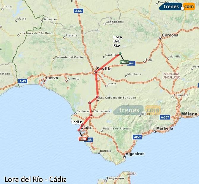 Ampliar mapa Comboios Lora del Río Cádiz