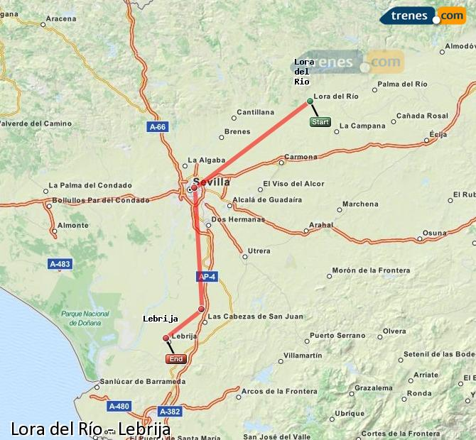Ampliar mapa Comboios Lora del Río Lebrija