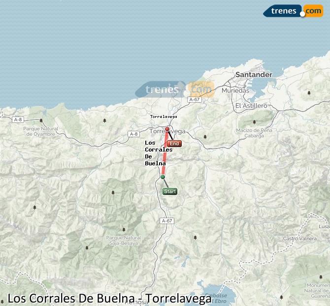 Ingrandisci la mappa Treni Los Corrales De Buelna Torrelavega