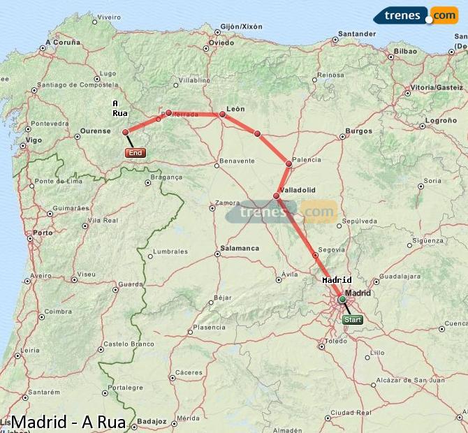 Karte vergrößern Züge Madrid A Rua
