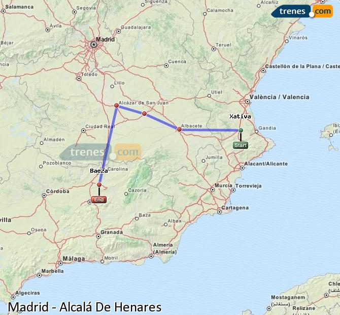 Enlarge map Trains Madrid to Alcalá De Henares