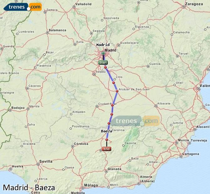 Ampliar mapa Trenes Madrid Baeza