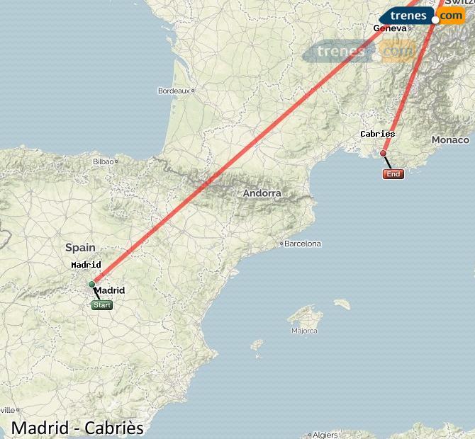 Ampliar mapa Trenes Madrid Cabriès