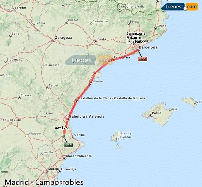 Ingrandisci la mappa Treni Madrid Camporrobles