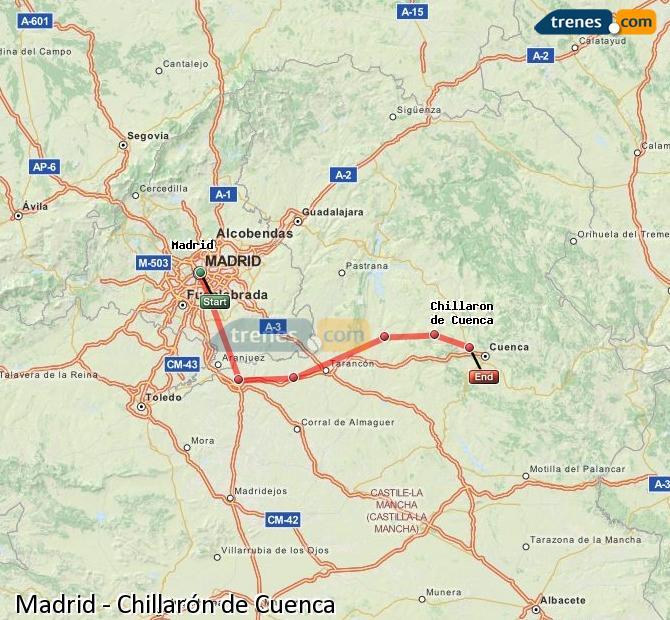 Ampliar mapa Trenes Madrid Chillarón de Cuenca