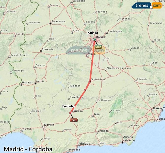 Enlarge map Trains Madrid to Córdoba