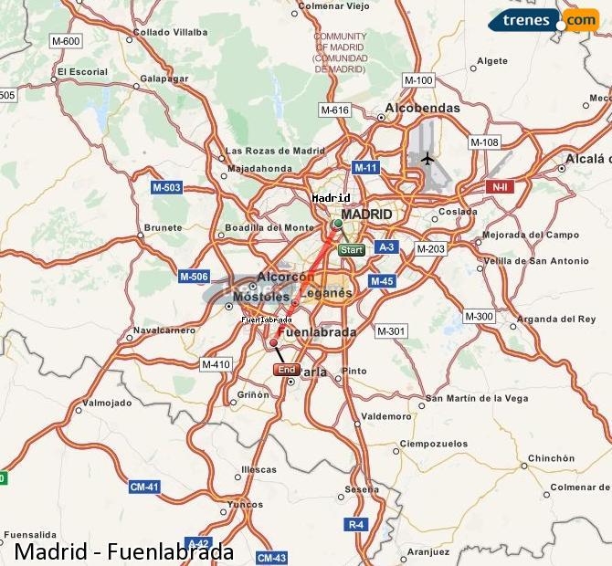 Ampliar mapa Trenes Madrid Fuenlabrada