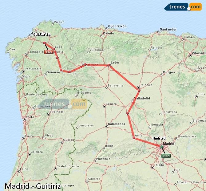 Ampliar mapa Trenes Madrid Guitiriz