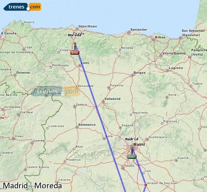 Ingrandisci la mappa Treni Madrid Moreda