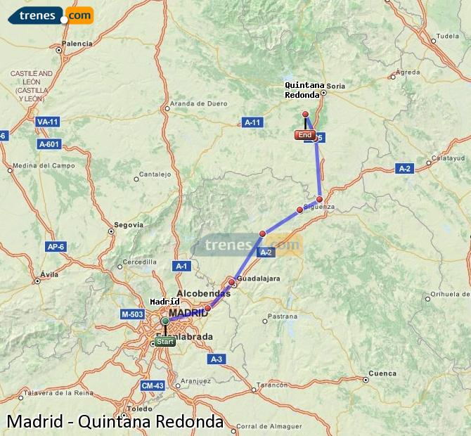Karte vergrößern Züge Madrid Quintana Redonda