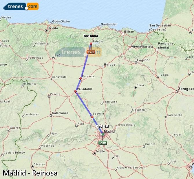 Karte vergrößern Züge Madrid Reinosa