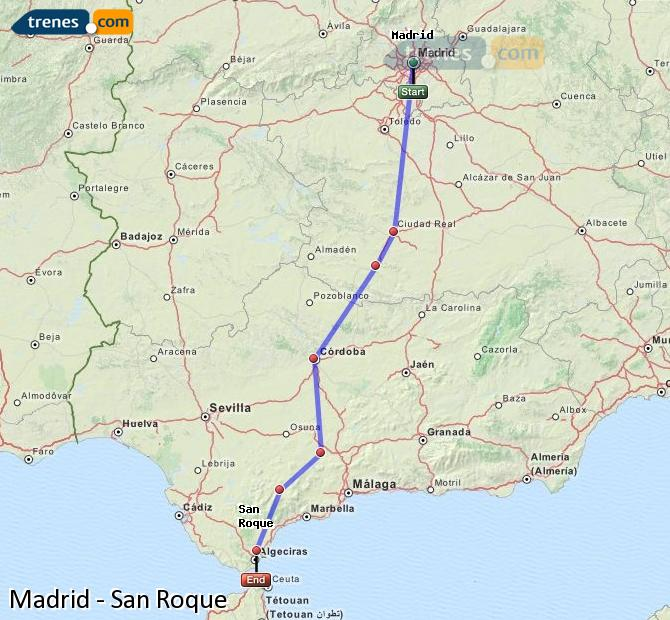Ingrandisci la mappa Treni Madrid San Roque