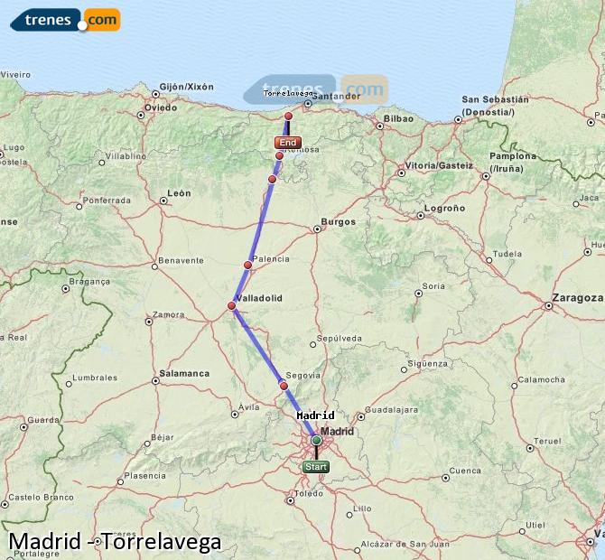 Karte vergrößern Züge Madrid Torrelavega