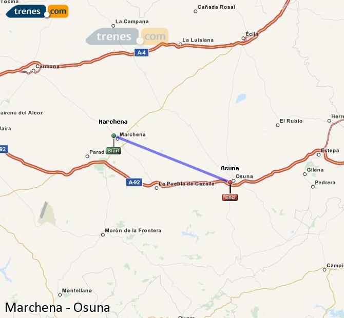 Enlarge map Trains Marchena to Osuna