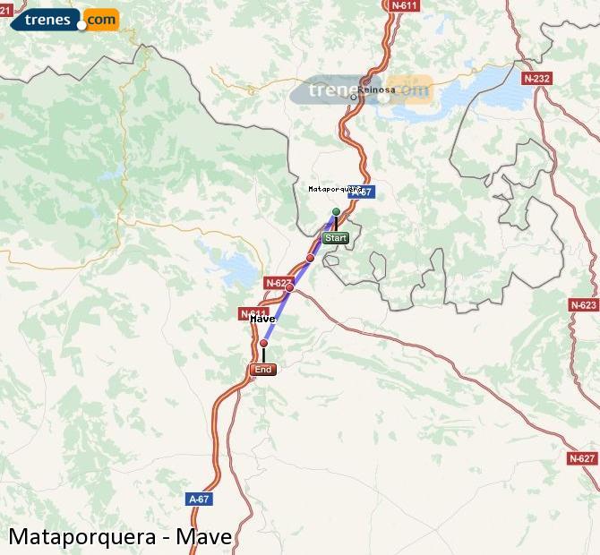 Karte vergrößern Züge Mataporquera Mave
