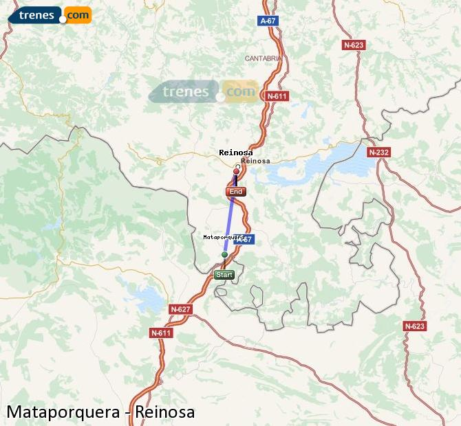 Enlarge map Trains Mataporquera to Reinosa