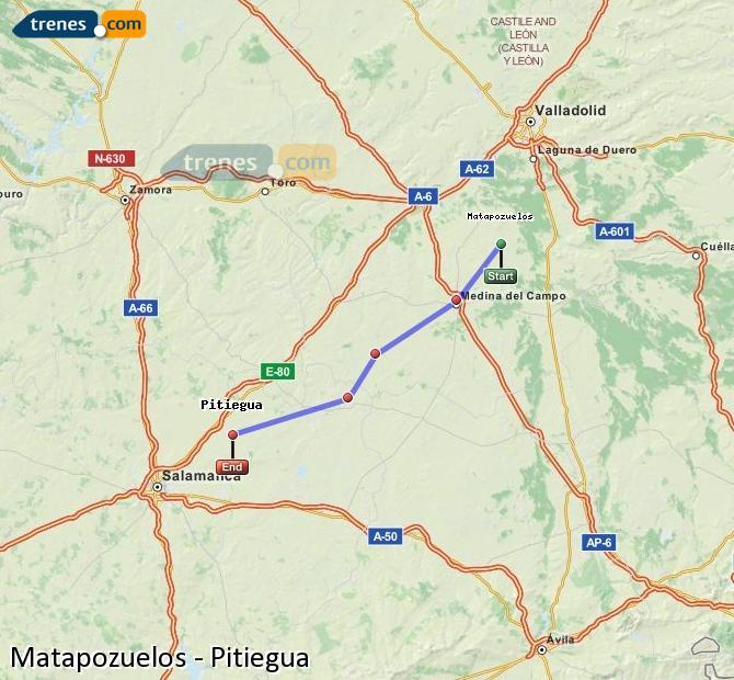 Enlarge map Trains Matapozuelos to Pitiegua