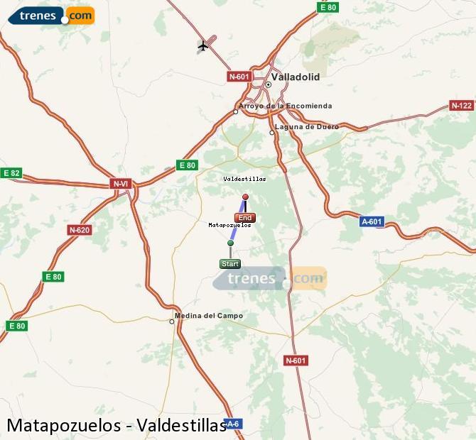 Karte vergrößern Züge Matapozuelos Valdestillas