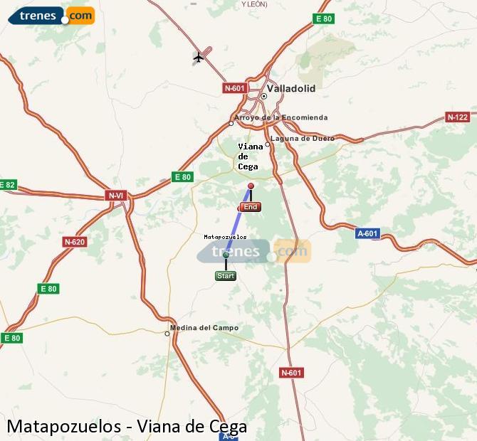 Ingrandisci la mappa Treni Matapozuelos Viana de Cega