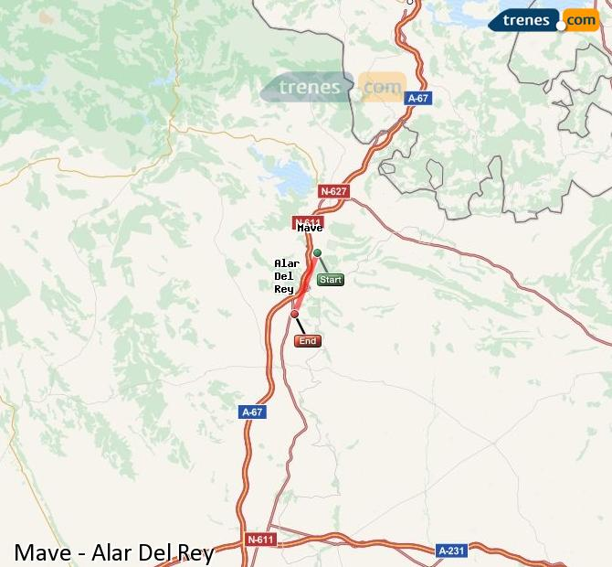 Ingrandisci la mappa Treni Mave Alar Del Rey