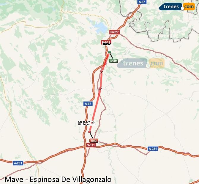 Karte vergrößern Züge Mave Espinosa De Villagonzalo