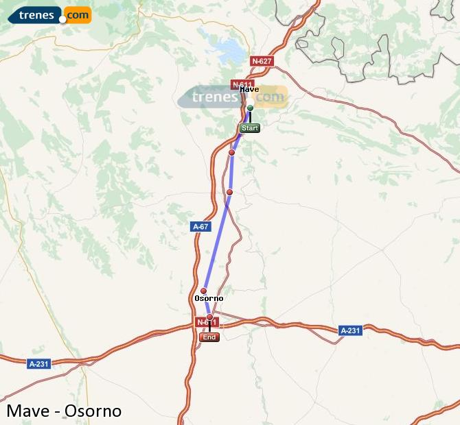 Enlarge map Trains Mave to Osorno