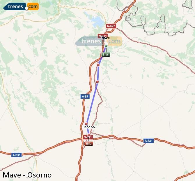 Karte vergrößern Züge Mave Osorno