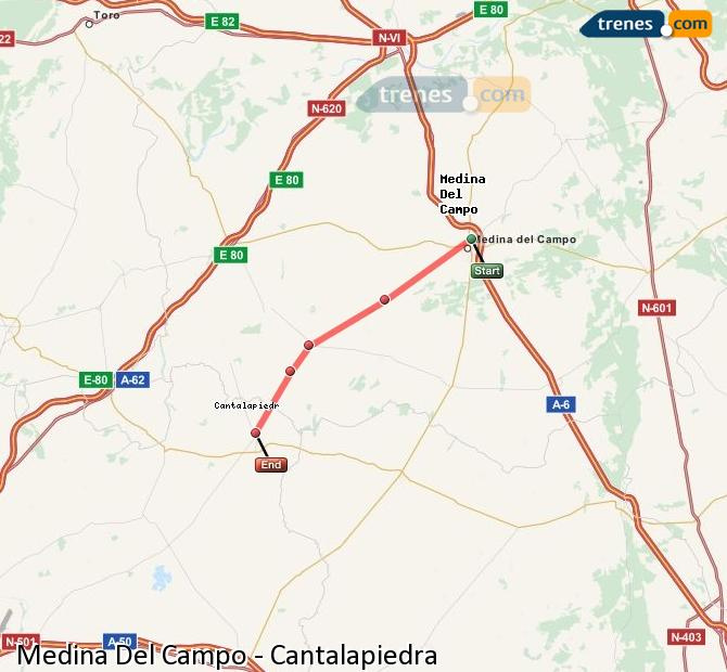 Ingrandisci la mappa Treni Medina Del Campo Cantalapiedra