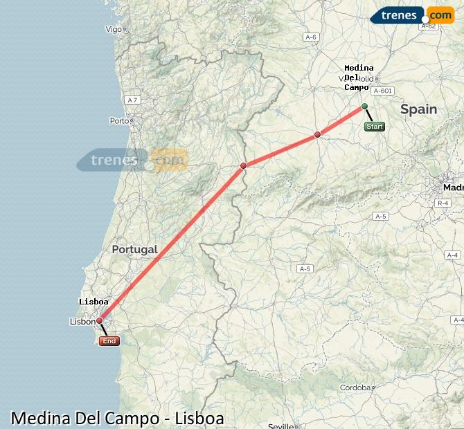 Agrandir la carte Trains Medina Del Campo