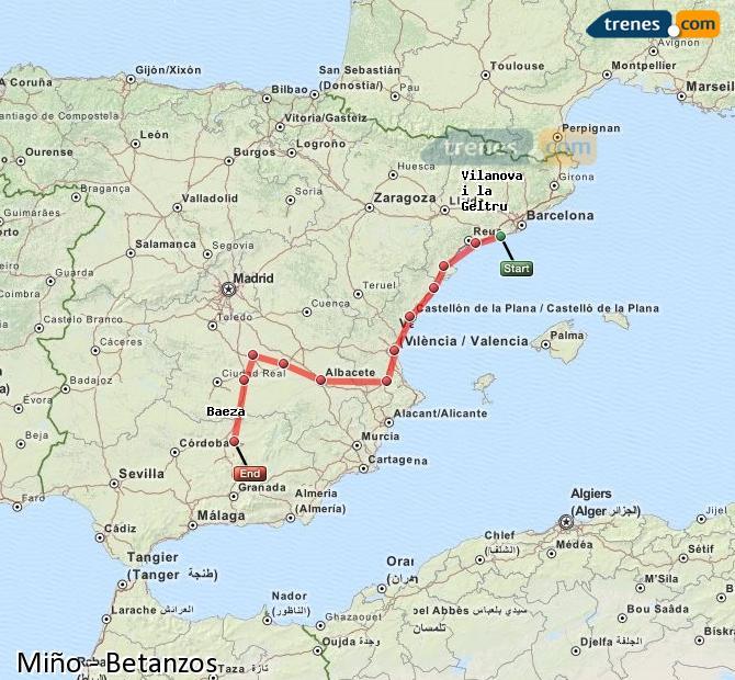 Karte vergrößern Züge Miño Betanzos