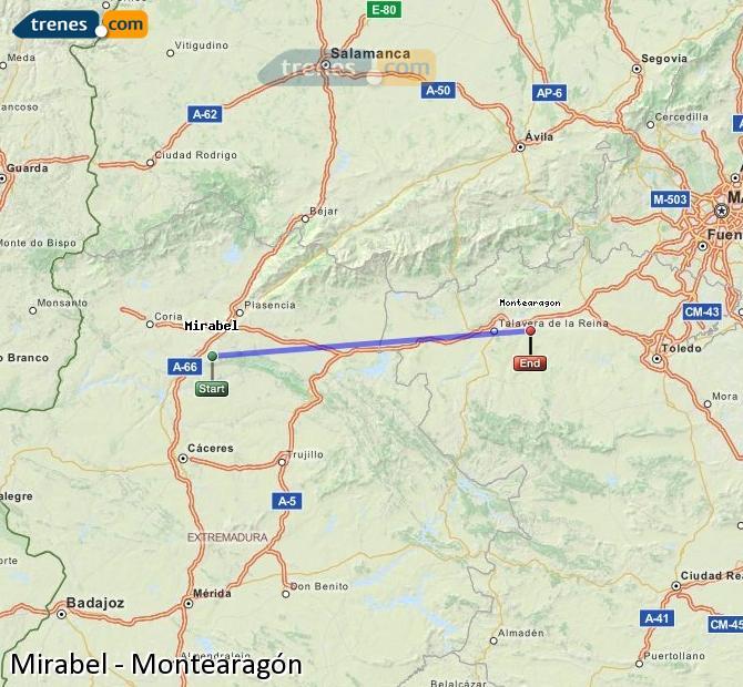 Ampliar mapa Trenes Mirabel Montearagón