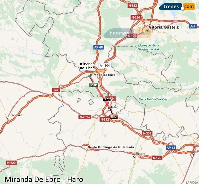 Karte vergrößern Züge Miranda De Ebro Haro