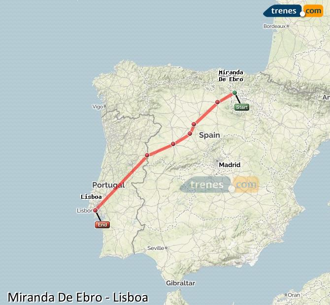 Karte vergrößern Züge Miranda De Ebro