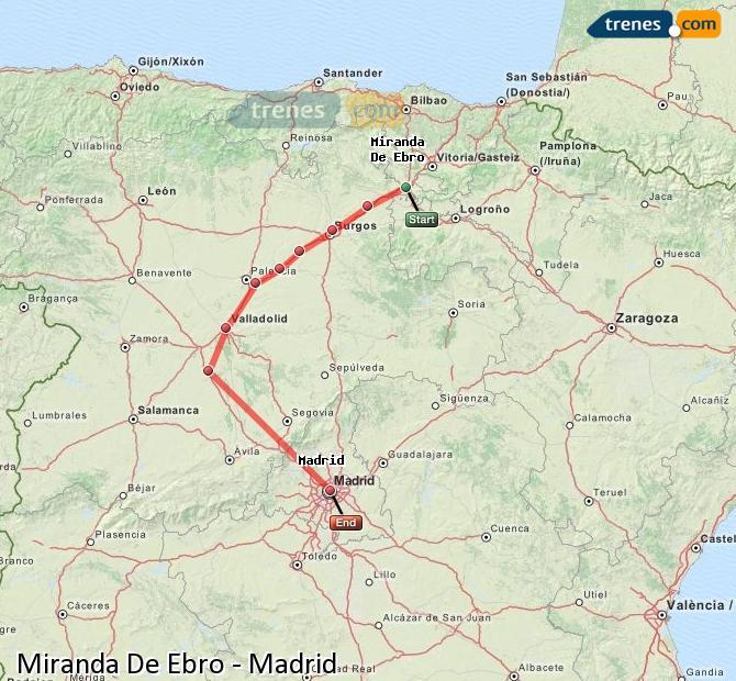 Mapa Miranda De Ebro.Cheap Miranda De Ebro To Madrid Trains Tickets From 14 30