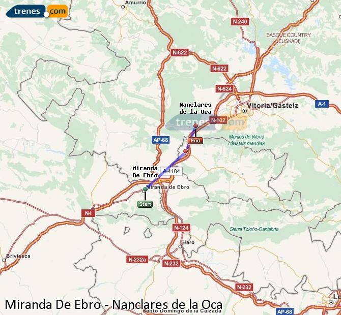 Ingrandisci la mappa Treni Miranda De Ebro Nanclares de la Oca