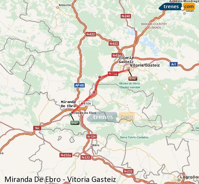 Ingrandisci la mappa Treni Miranda De Ebro Vitoria Gasteiz
