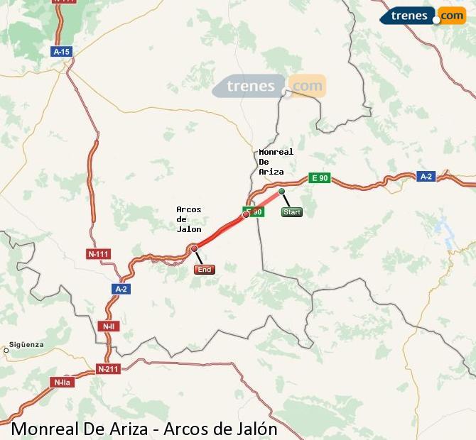 Ampliar mapa Comboios Monreal De Ariza Arcos de Jalón