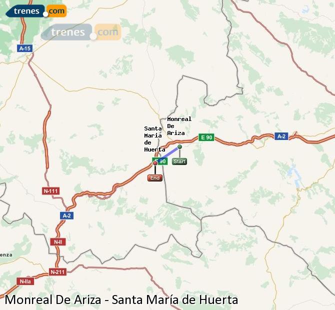 Ingrandisci la mappa Treni Monreal De Ariza Santa María de Huerta