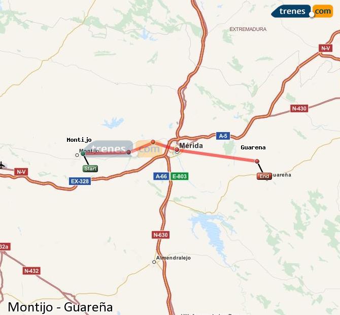 Ampliar mapa Trenes Montijo Guareña