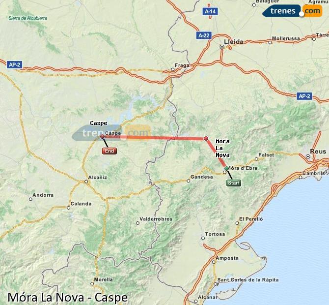 Ampliar mapa Trenes Móra La Nova Caspe