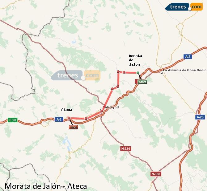 Karte vergrößern Züge Morata de Jalón Ateca
