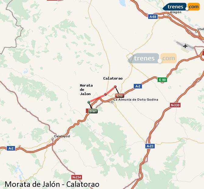 Karte vergrößern Züge Morata de Jalón Calatorao