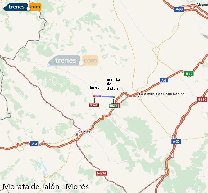 Ingrandisci la mappa Treni Morata de Jalón Morés