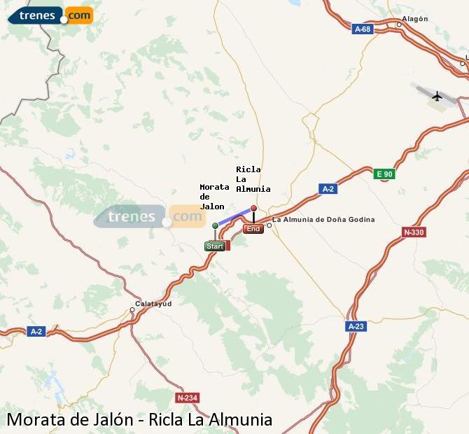 Karte vergrößern Züge Morata de Jalón Ricla La Almunia