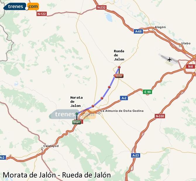 Ampliar mapa Comboios Morata de Jalón Rueda de Jalón