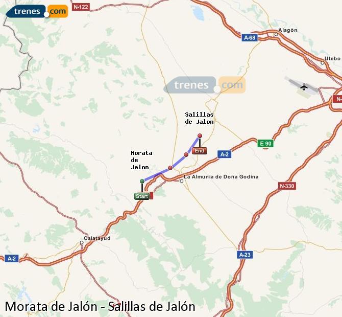 Karte vergrößern Züge Morata de Jalón Salillas de Jalón