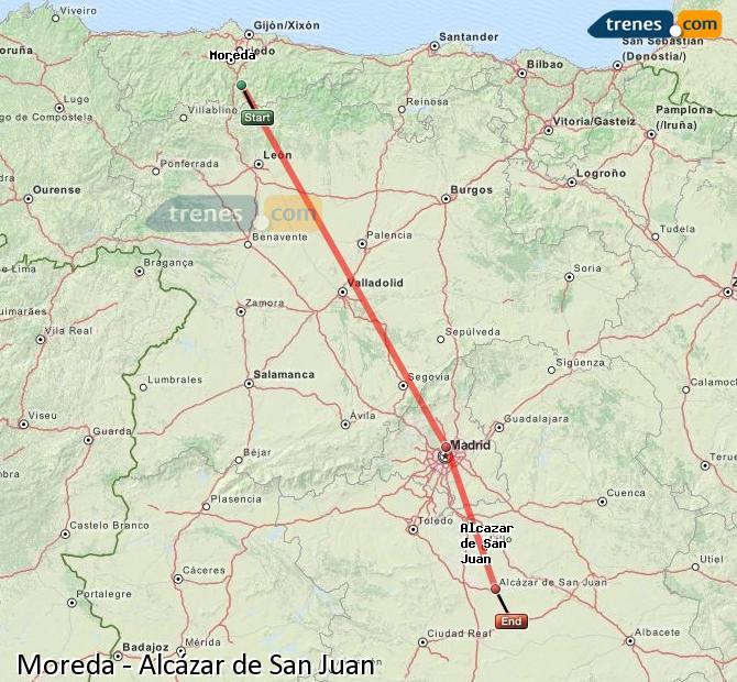 Ingrandisci la mappa Treni Moreda Alcázar de San Juan