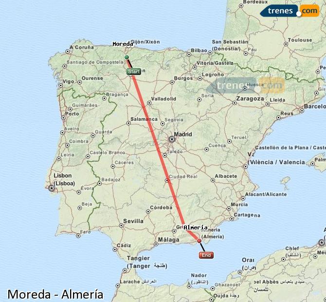 Ampliar mapa Trenes Moreda Almería