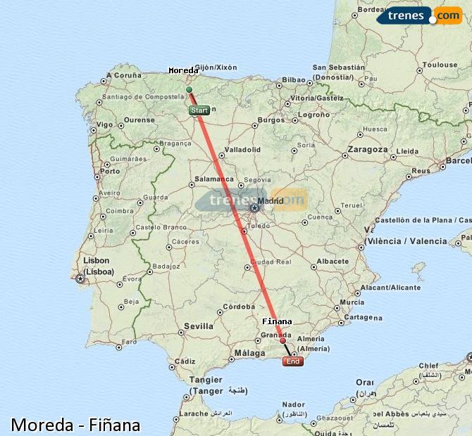 Enlarge map Trains Moreda to Fiñana